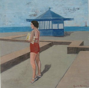 Galerie Montpellier | Rusiñol Masramon: Banyista i caseta blava