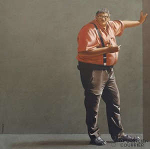 La main au mur