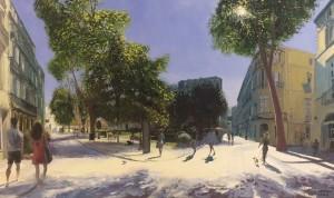 Galerie Montpellier | David Rycroft: Comme un dimanche sur la place