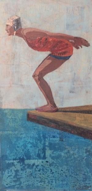 Nadadora adelante