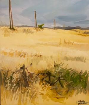 Galerie Montpellier | Bernard Calvet: Deux vélos dans les blés