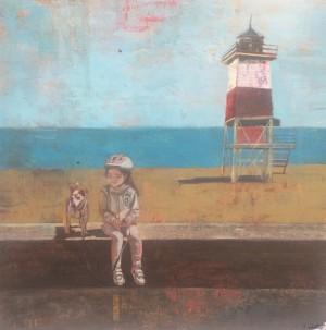 Galerie Montpellier | Rusiñol Masramon: Petite fille au phare