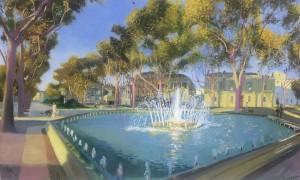 Galerie Montpellier | David Rycroft: Un matin sur l'esplanade