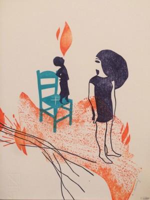 Galerie Montpellier | Evelyne Mary: Le cracheur de feu