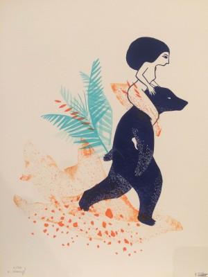 Galerie Montpellier | Evelyne Mary: La belle et la bête feuillage