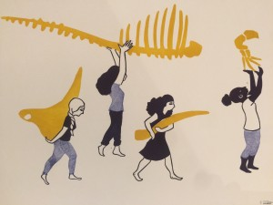Galerie Montpellier | Evelyne Mary: Elles portent les os