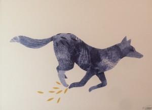 Galerie Montpellier   Evelyne Mary: La course du loup