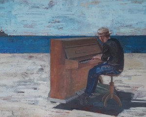 Le pianiste au bord de la mer