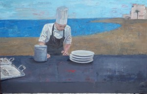 Galerie Montpellier | Rusiñol Masramon: Cuisiniers à la plage II