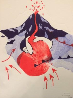 Galerie Montpellier | Evelyne Mary: volcan Irazù