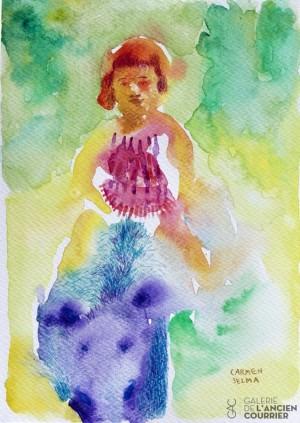 Galerie Montpellier | Carmen Selma: la petite fille et le sanglier