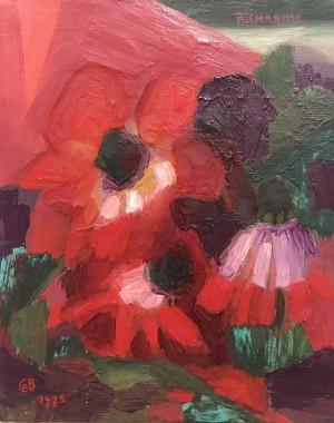 Galerie Montpellier | Richarme: Trois anémones rouges