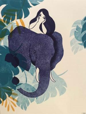 Galerie Montpellier | Evelyne Mary: La fille et l'éléphant