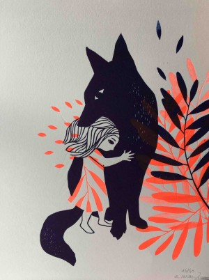 Le loup et la petite fille