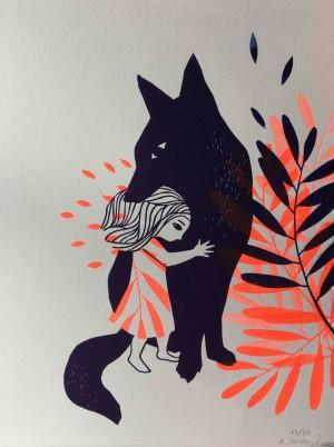 Galerie Montpellier | Evelyne Mary: Le loup et la petite fille