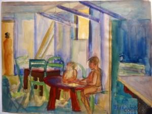 Galerie Montpellier   Richarme : Baraque à la plage 1949