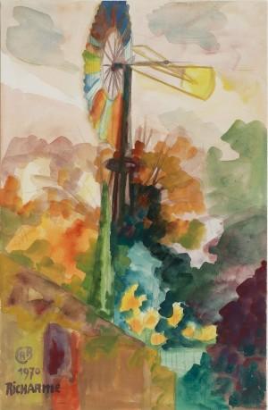 Eolienne arc en ciel 1970
