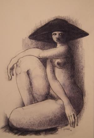 Galerie Montpellier | Pierre Lohner: La chapeautée bleue