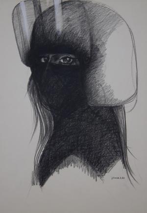 Galerie Montpellier | Pierre Lohner: Le femme casquée