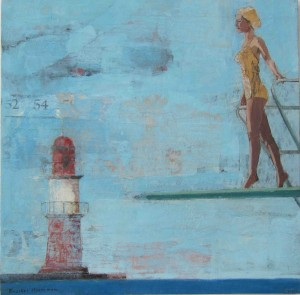 Galerie Montpellier | Rusiñol Masramon:  Swimmer and lighthouse